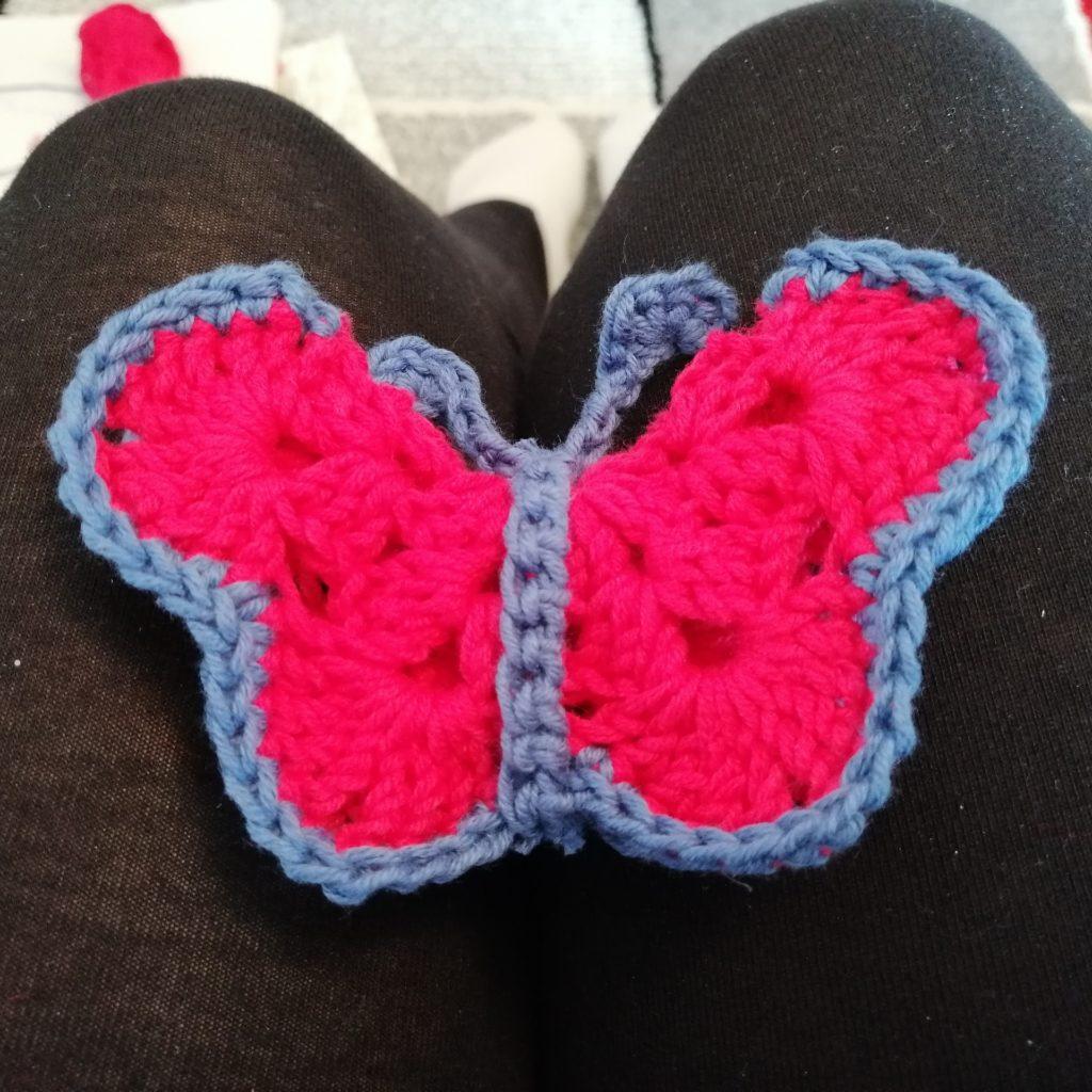 Schmetterling für Häkel-Mobile für das Baby