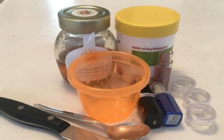 DIY-Lippenpflege - Zutaten und Material