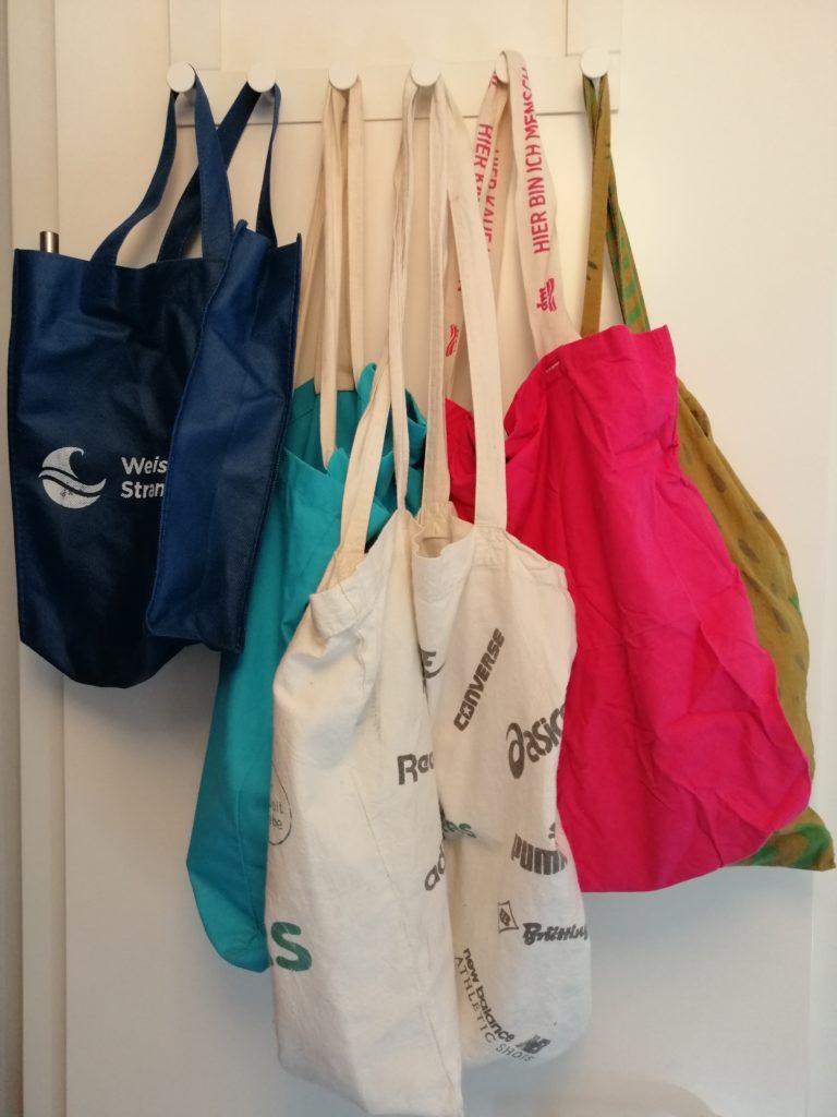 Plastikfrei Einkäufe verstauen