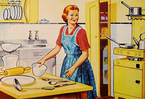 Hausfrau in der Küche