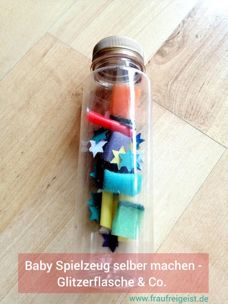 Baby Spielzeug selber machen - Glitzerflasche & Co.