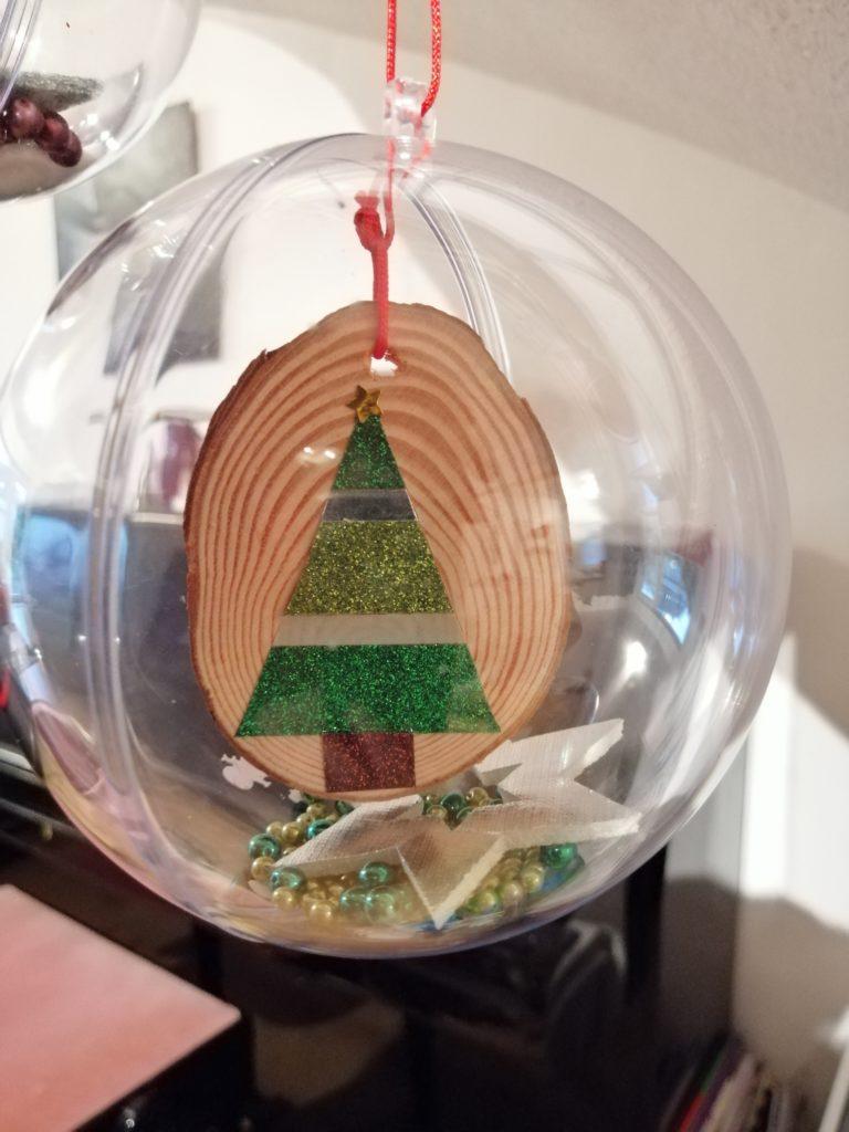 Weihnachtsdeko Kugel Baumscheiben 2