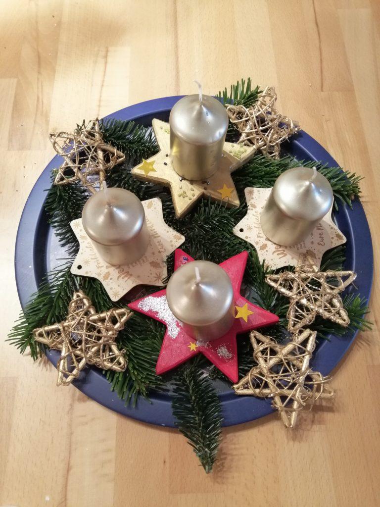 Weihnachtsdeko Adventskranz