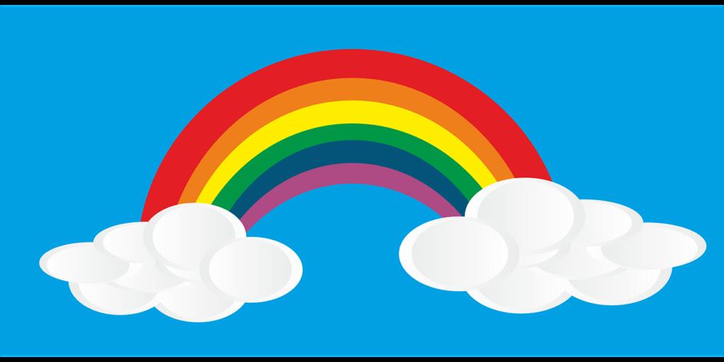 Farben lernen - Regenbogen