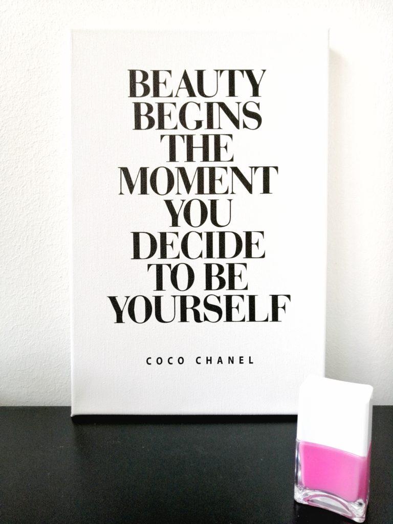 Wandbilder coco Chanel beauty