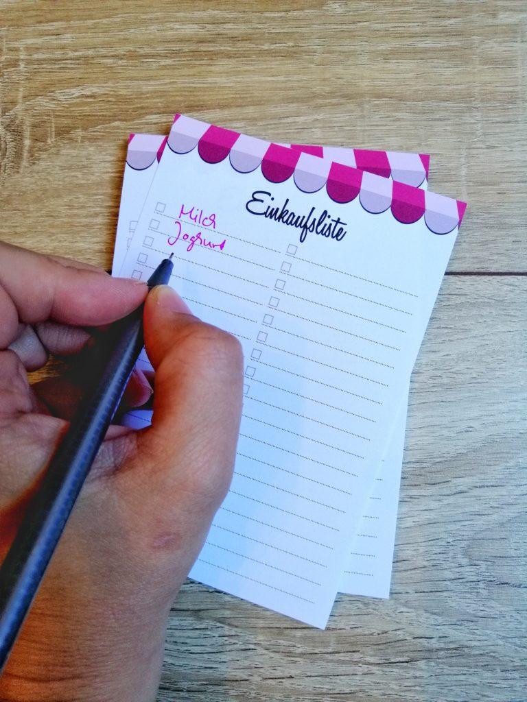 Mama Alltag organisieren - Einkaufsliste